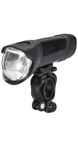 Busch + Müller Ixon Fyre Akku-Frontscheinwerfer mit USB Netzteil schwarz-silber